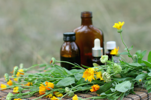 Calendula flower essential oil and tincture.png