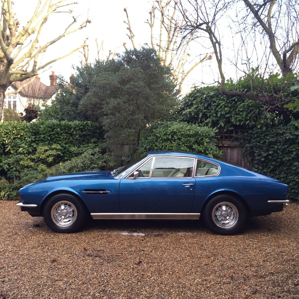 Aston Martin V8 detailing