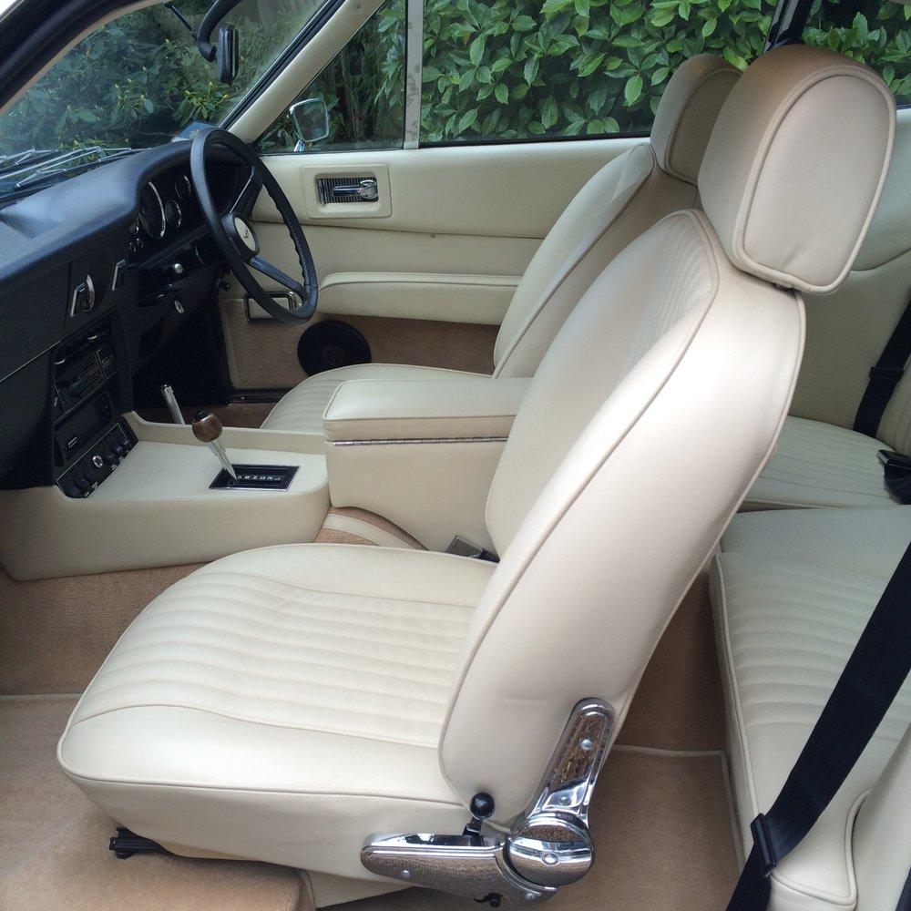 Aston Martin V8 interior detailing