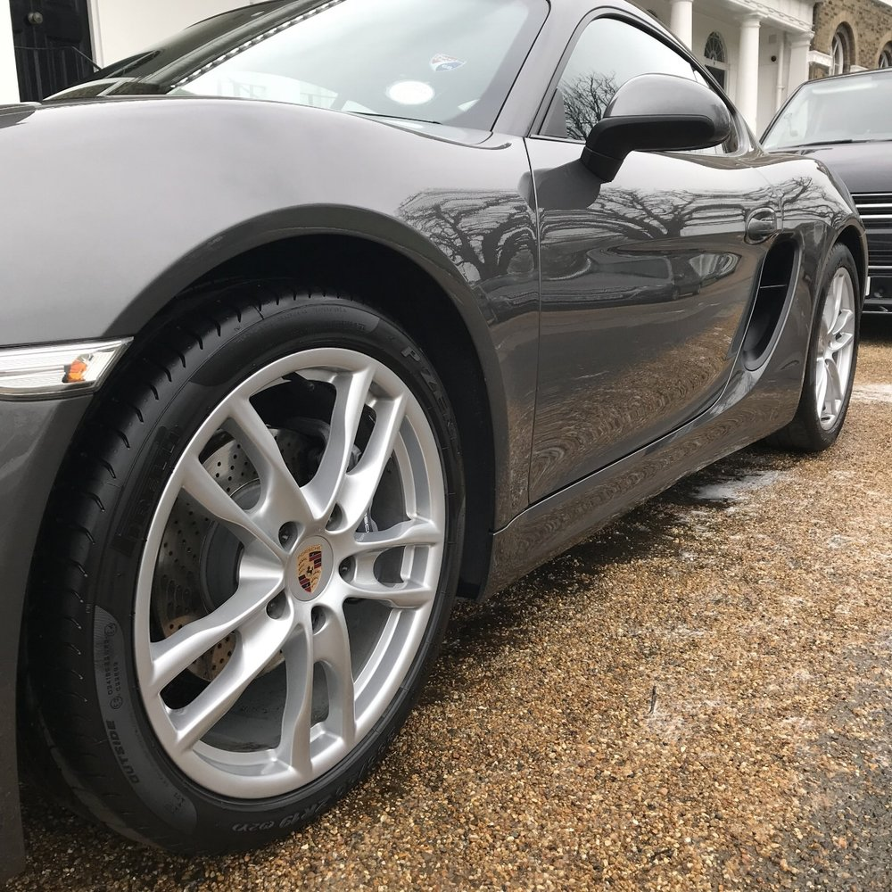 porsche cayman 2.7 981 detailed paint protected paint corrected cleaned