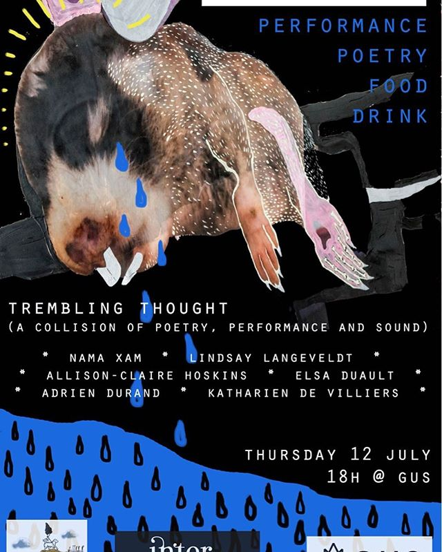@kathariendevilliers and @heinrich_groenewald are exceptionally proud to present a wonderful event. A collision of artists, tongues, colour and thought @stbgus with artists @namaxam, @elsaduault, @hadriensunn, @allison_st.claire_hoskins, @firelillyflow and @kathariendevilliers. Rotis, tea, beer and a good time is guaranteed!  #intermagazine #capetownissues #inter(great) #intergrate #artistsindialogue #curatorsdream