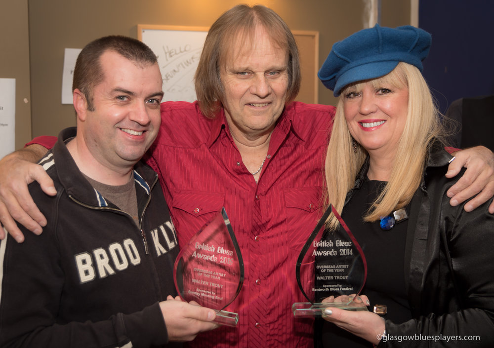 """Walter Trout receives """"Oversea Artist of the Year"""" for 2014 AND 2015 -"""