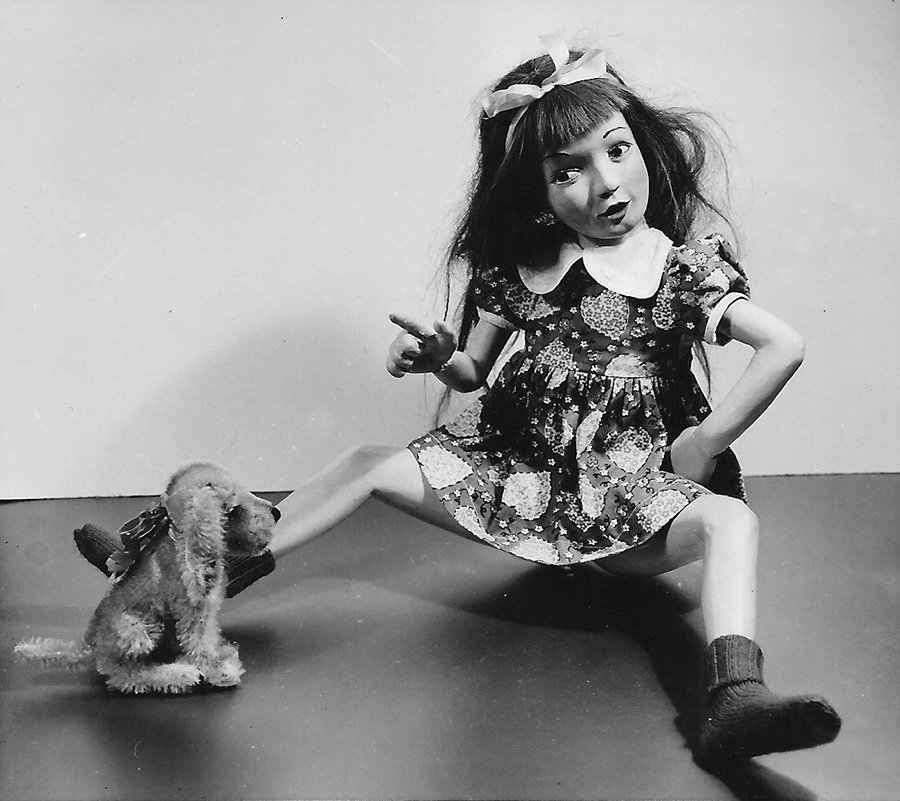 Morton Bartlett - Untitled (Girl Doll with her Dog)