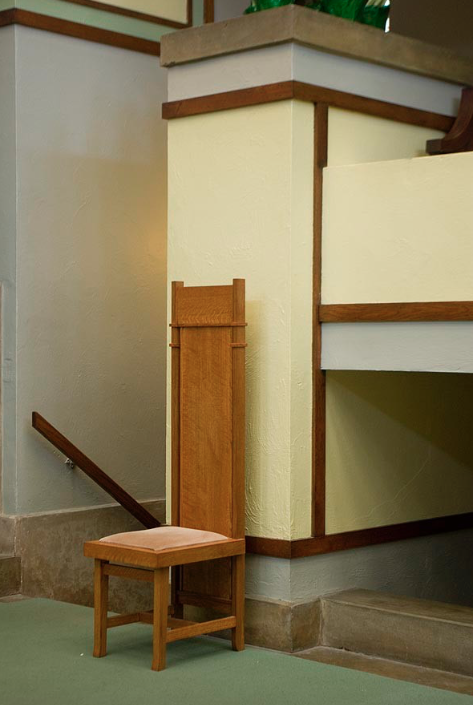 1903 Frank Lloyd Wright side chair from the Unitarian Church in Chicago