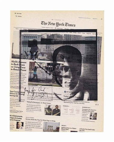 Wade Guyton - Untitled (The New York Times - Tuesday, August 12 , 2014