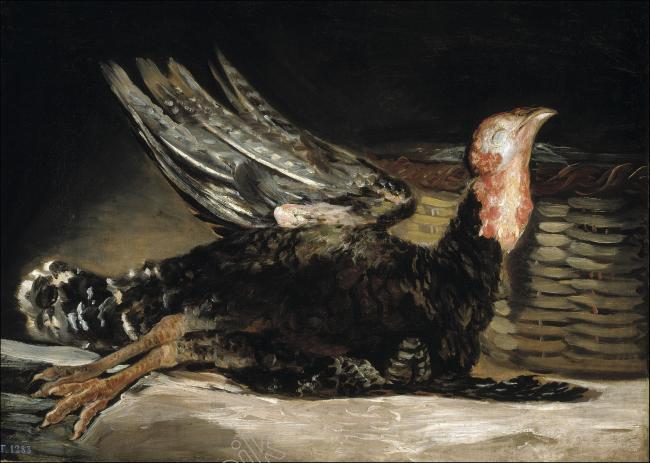 Francisco de Goya - Dead Turkey