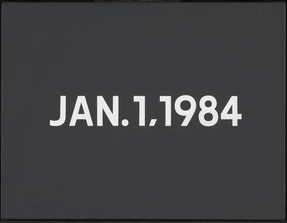 On Kawara - Jan.1.1984