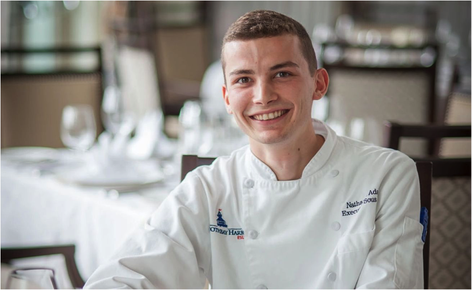 Chef Nathaniel Adam  Executive Sous Chef for the Boothbay Harbor Country Club - Paul's Steak House and Grille 19   International Oyster Chef of the Year Competitor   Chef Nathaniel Adam found his passion for food at an early age. Born in Detroit, MI and raised in Bonita Springs, FL, Chef Nathaniel has 8 years of culinary experience mostly in country clubs. At the young age of 22, Chef Nathaniel is the Executive Sous Chef at the Boothbay Harbor Country Club during the months of May through October, and runs his private chef business Savor the Flavor during the winter months in southwest Florida. Chef Nathaniel is a modern American chef executing global cuisine with classical French technique. He is dedicated to sourcing the finest of ingredients and treating them with the proper technique to achieve maximum flavor. He can often be seen harvesting fresh herbs and vegetables from the onsite organic garden at the Boothbay Harbor Country Club. Most recently, Chef Nathaniel was the Judges Choice Winner of the 2017 Clawdown and crowned the 2017 Maine Lobster Chef of the Year.