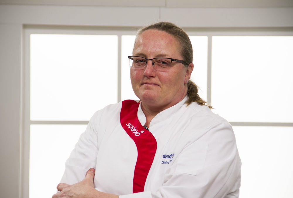"""Chef Wendy BennEy  Certified Executive Chef – MAINE, Sodexo, Portland, ME  TASTE MAINE'S FUTURE AT DRA ROUND TOP FARM  – CHEF   Wendy was born and raised in Connecticut surrounded by Czech and Polish grandparents who provided a rich food background in ethnic specialties. Her family grew most of their own produce and also maintained a small orchard.  Chef Wendy has 34 years of experience in the food industry throughout the New England area. Wendy currently puts her culinary talents to work at many of the campuses throughout the New England Region and beyond in her current role as Area Executive Chef training, developing and mentoring the chefs of tomorrow. She also is a Global Chef for Sodexo of which in 2015 she spent 7 weeks in Thailand serving up American favorites and bringing back cooking styles and techniques. Her current focus is on local slow foods, sustainable practices, and healthy eating and living using the world of grains and re-discovered foods of the past. Serving the freshest ingredients in their purest form of which she calls """"Eating Naked"""". To her food is art. Most recently she attained her ACF sanctioned C.E.C. (Certified Executive Chef) certification representing one of just over 3200 in the country as of 12/31/2017. Wendy maintains the desire to continue to learn and evolve in her profession """"It is never boring…"""""""
