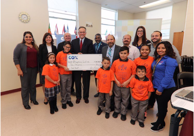 Thank you Cox Communications! - Cox Communications awarded Progreso Latino with a Cox Tech Boost grant of $10,000 to provide youth with advanced technology resources.