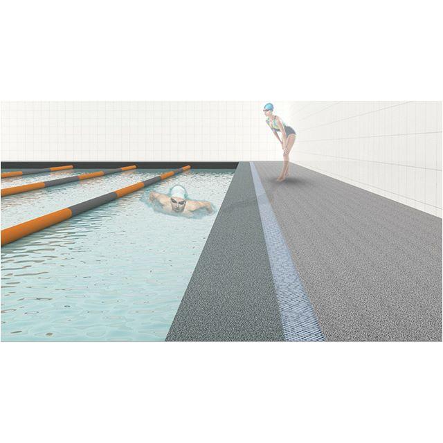 Qual sua cor de borda de piscina favorita? 🌟 #rubberbrasil #deckdepiscina