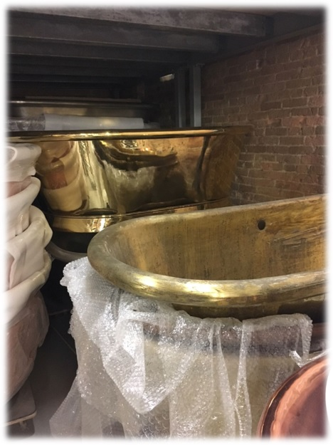 All the tubs are copper or brass based and do an amazing job of holding the heat. And they really are comfortable. Stop into one of OUR showrooms and check them out.