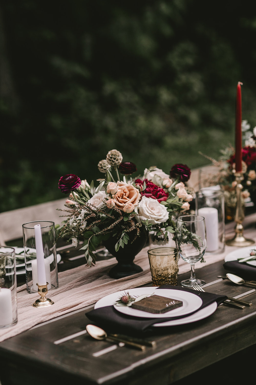 Intimate Elopement Tablescapes | Hurricane Ridge