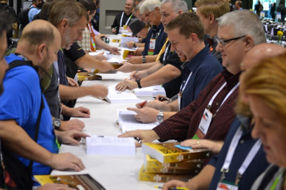 book signing for Volume Two at the PASS conference in 2011. (I'm in the lower right corner.)