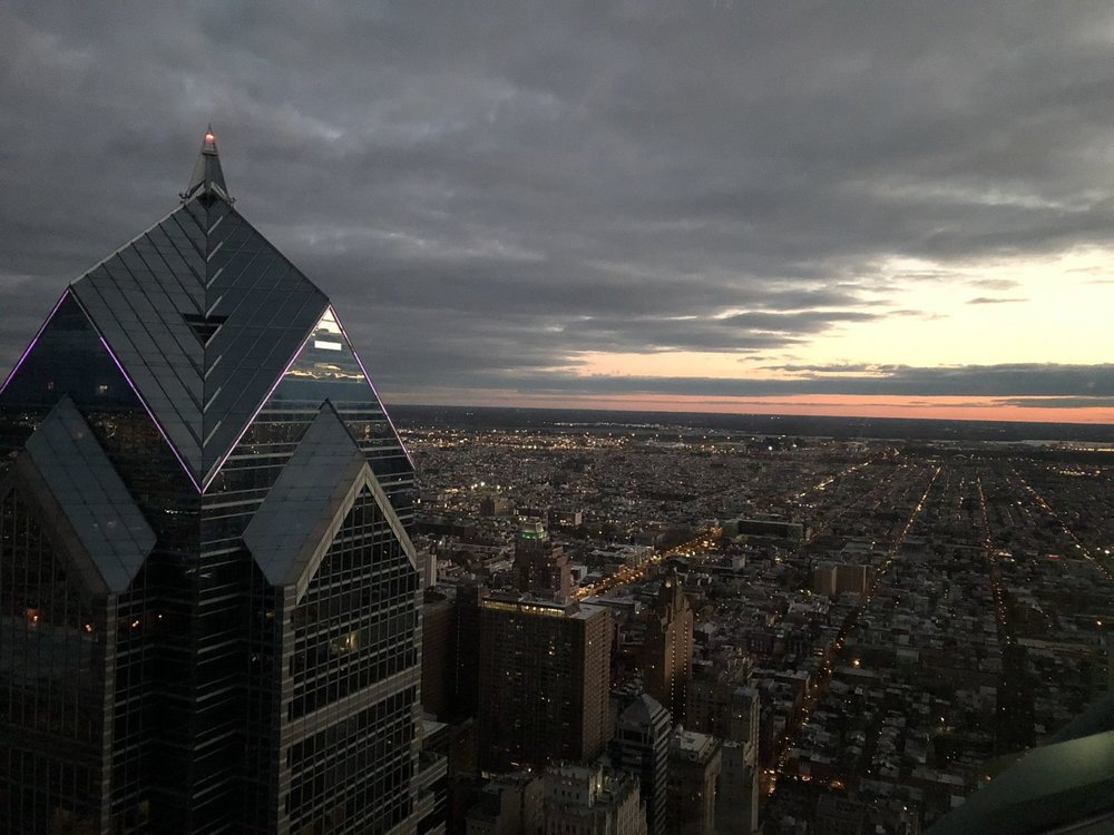 Philadelphie depuis le One Liberty Observation Deck