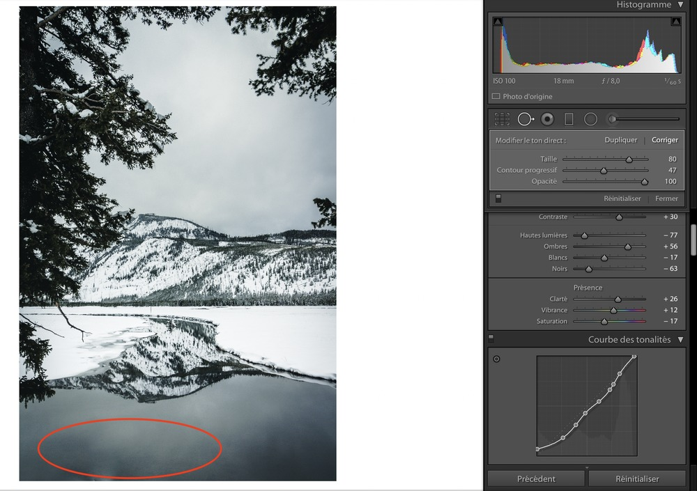 lightroom outil correction