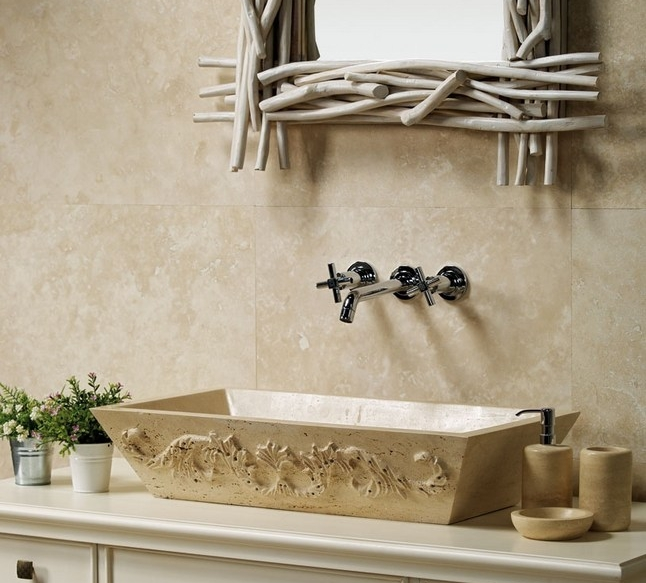 Traverine Classic - Classic Travertine is available in slab and a variety of tiles including mosaics and patterns. The beiges and browns with high variations are available in a variety of finishes including honed, unfilled chiseled and tumbled.