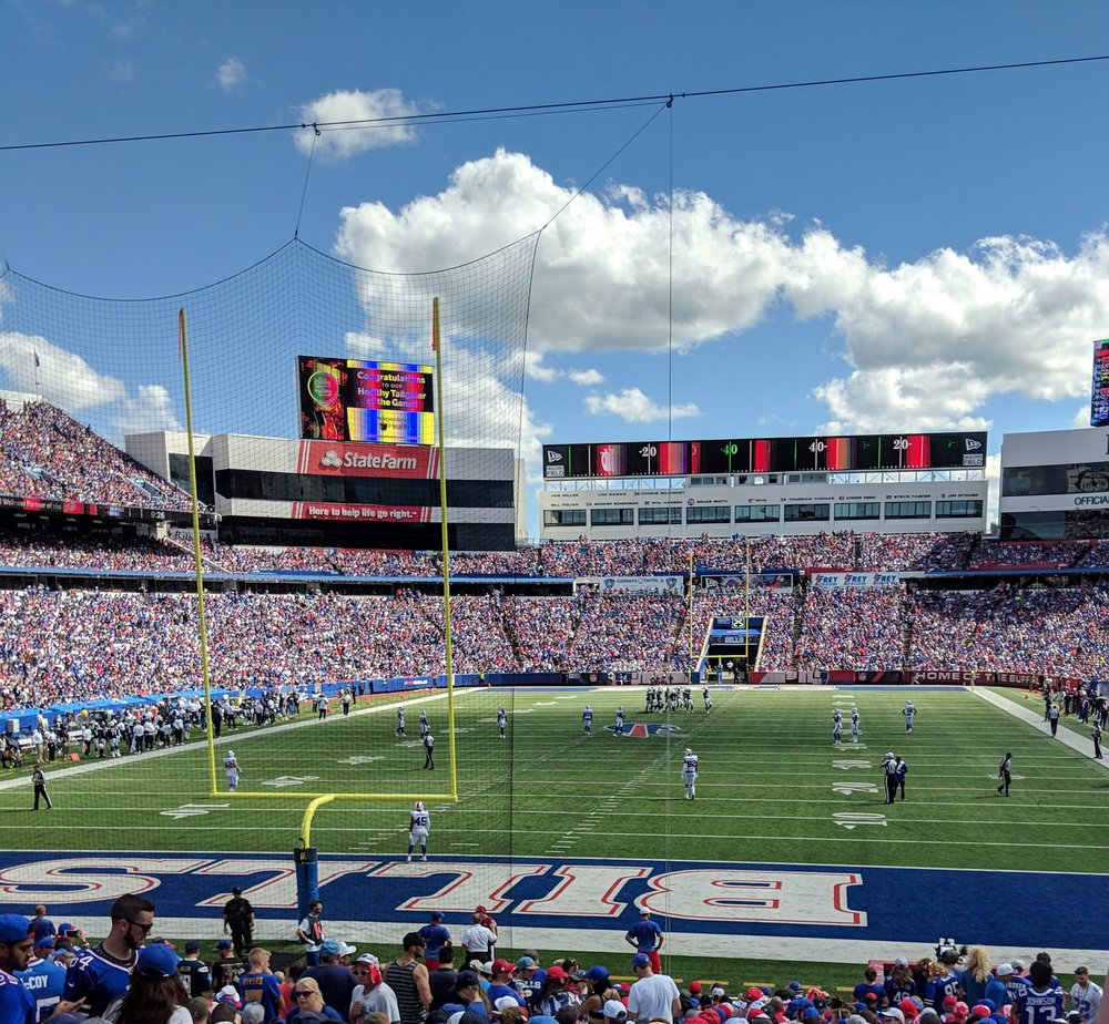 The Buffalo Bills have a lovely field, just wish they would play up to it! Let's go Buffalo!
