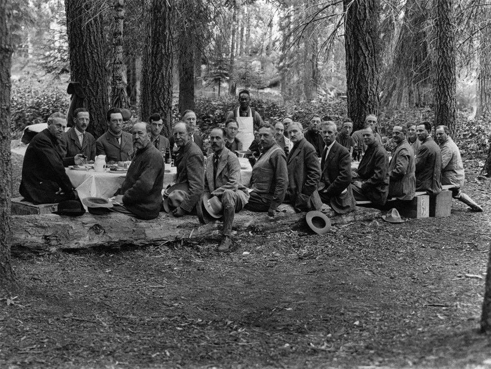 Chef Tai Sing with the Stephen Mather Mountain Party circa 1915 - Photo credit Dr. Gilbert H. Grosvenor / National Geographic
