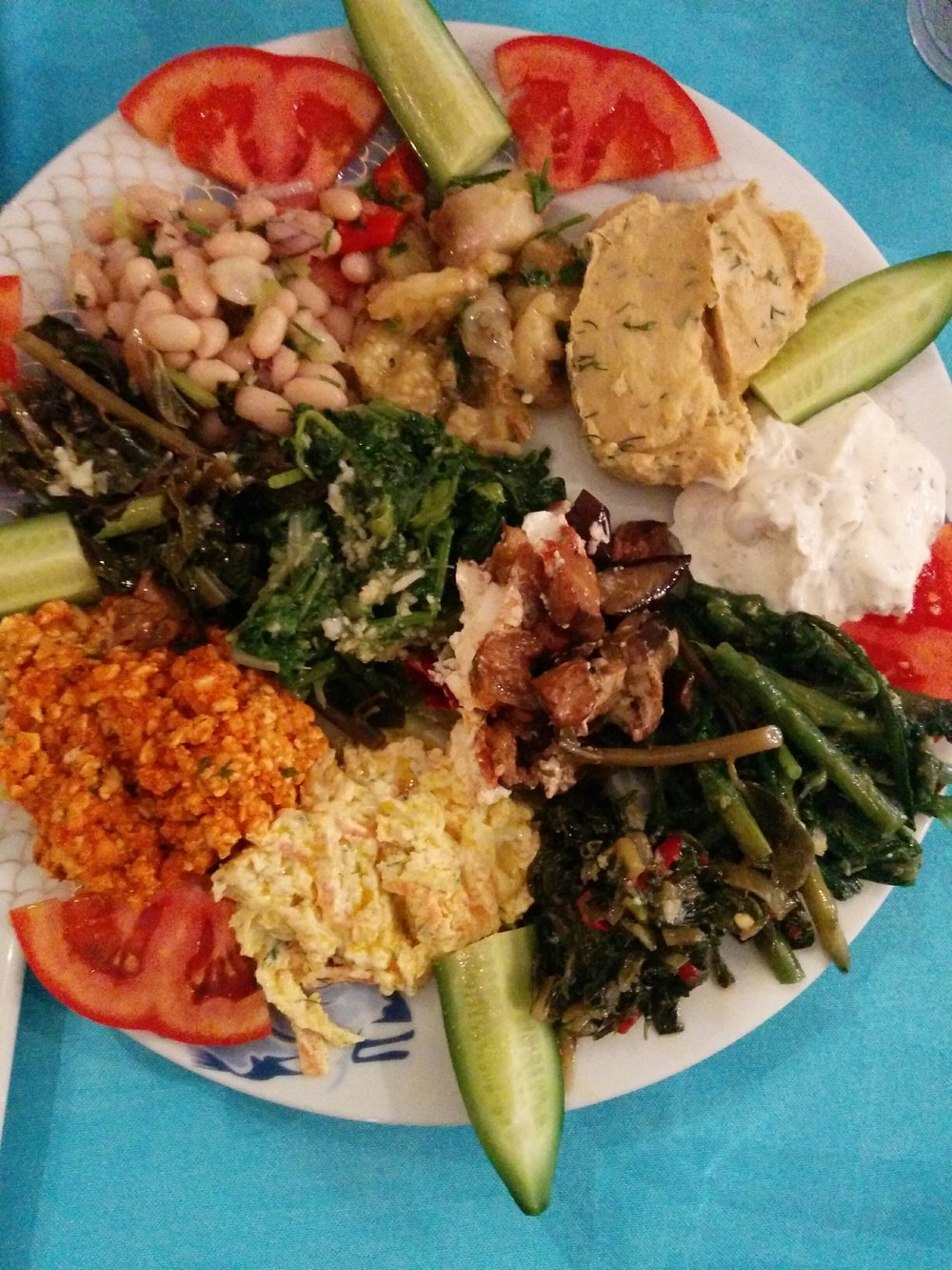 Mezze, or the best thing to have on your antipasto platter for the vegans to eat over the holidays… just sayin…