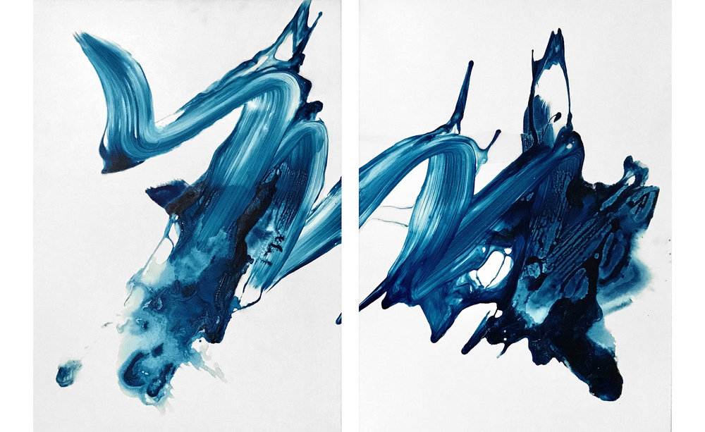 Small Splash (Diptych)