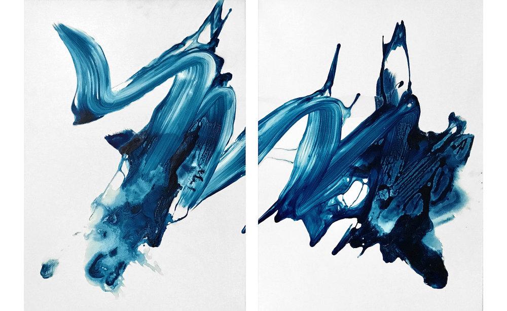 Small Splash (Diptych)