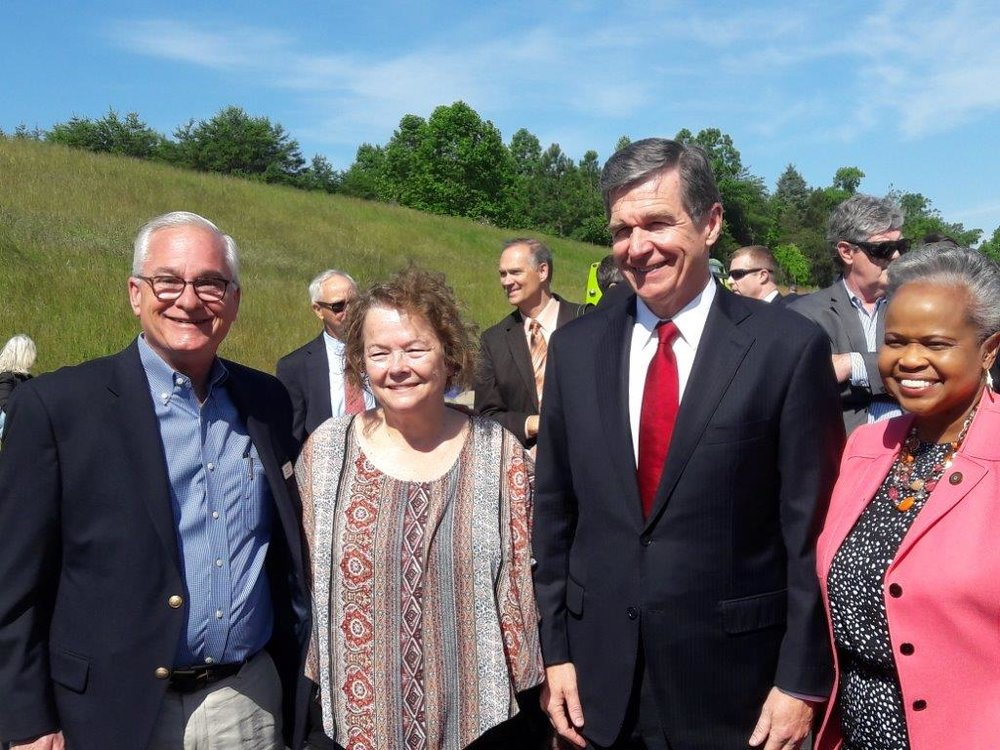 Senator Robinson, Oakridge Mayor George McLellan, Oakridge Council member at the Opening Ceremony of I -73