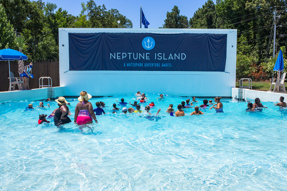 PARTNERSHIP OPPORTUNITIES - Neptune Island Waterpark welcomed over 64,000 guests during its inaugural season. We welcome the opportunity to expose corporate entities to our guests during their escape to the island. For more information on partnership opportunities, please email us at marketing@neptuneisland.com.