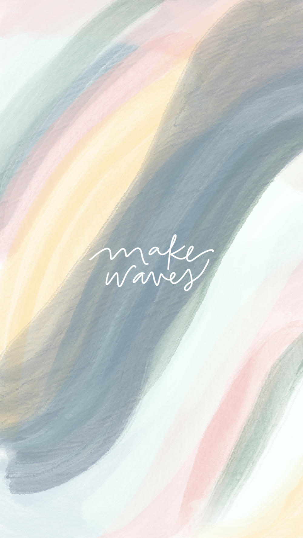 Kindly by Kelsea Make Waves Illustration Phone Wallpaper