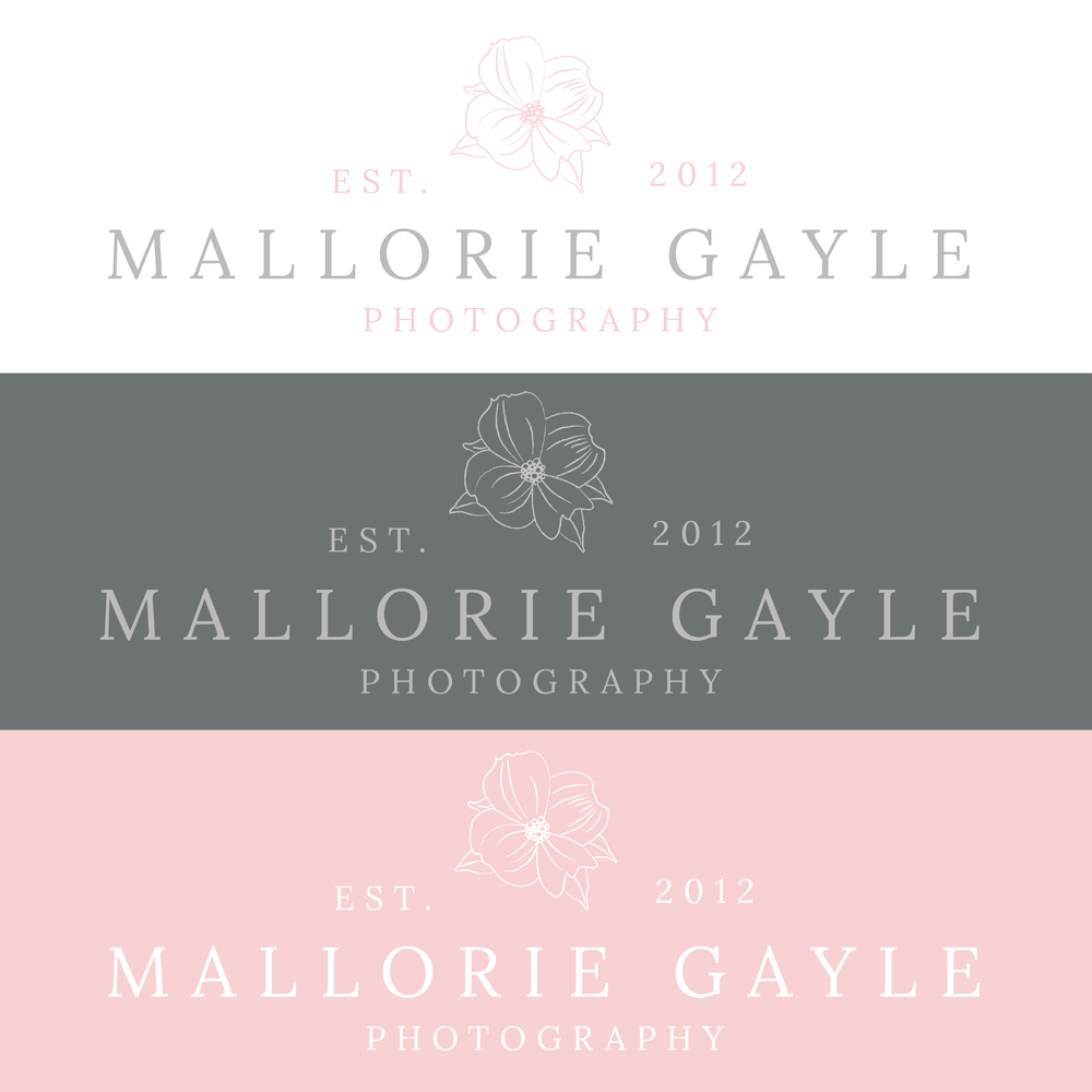 Mallorie Gayle Photography Branding by Kindly by Kelsea Primary Logos