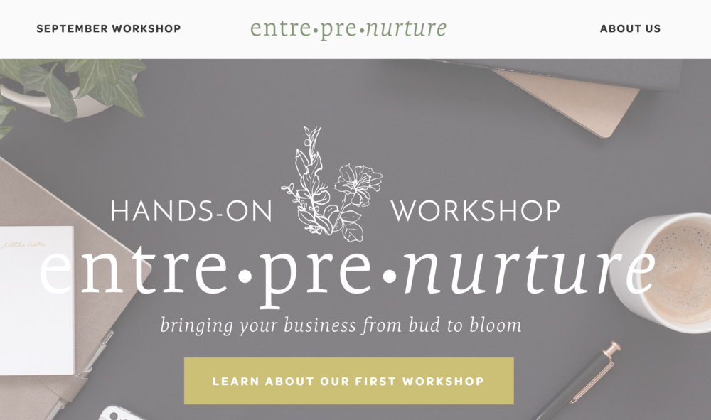 Houston Entrepreneur Workshop Brand Design by Kindly by Kelsea