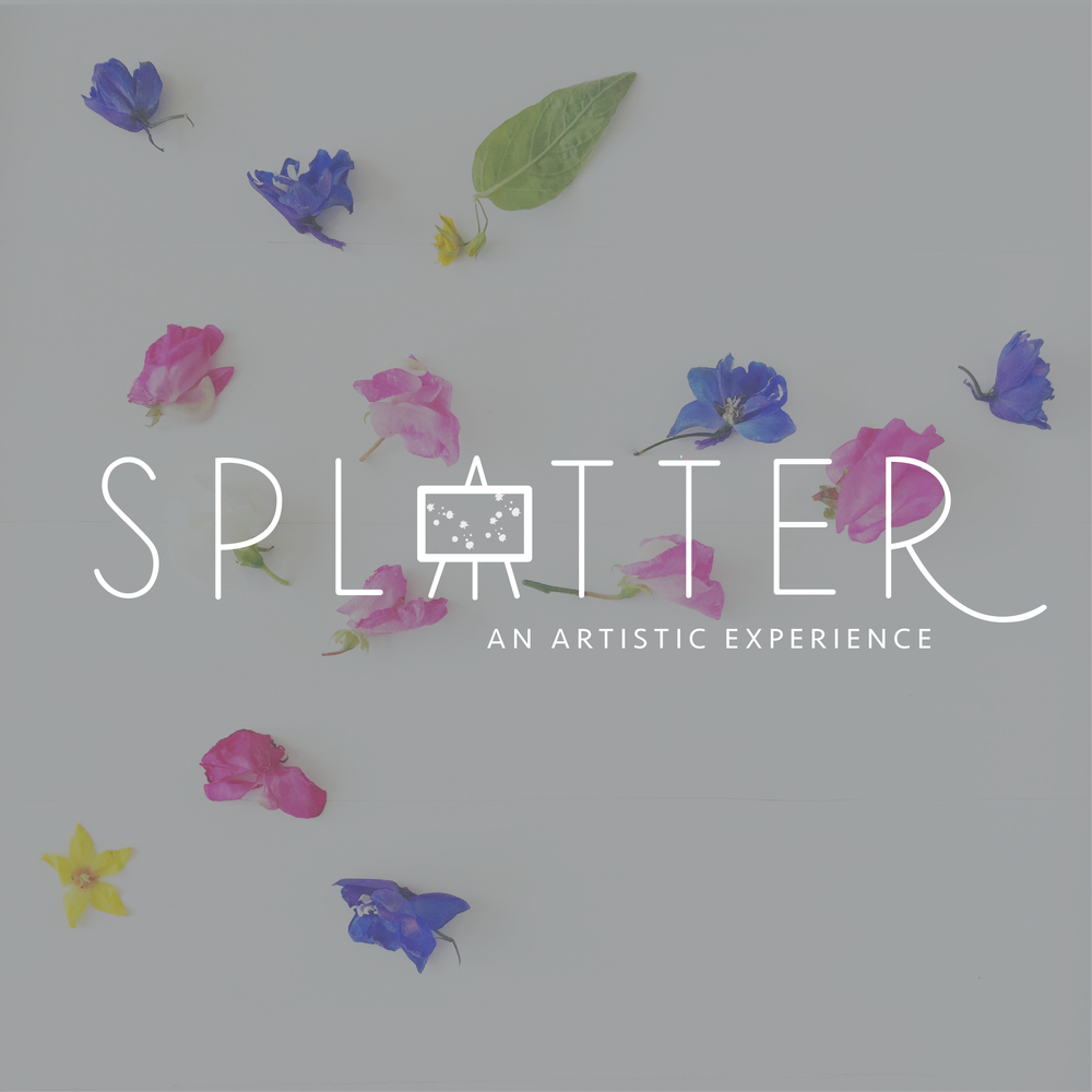 Splatter Artistic Experience Conceptual Brand Design Kindly by Kelsea
