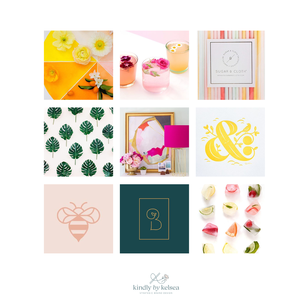 Pomp & Pollen Lifestyle Blogger Brand Mood Board by Kindly by Kelsea