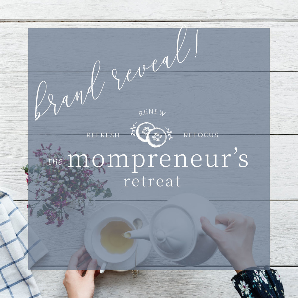 The Houston Mompreneur's Retreat Logo and Brand Design by Kindly by Kelsea