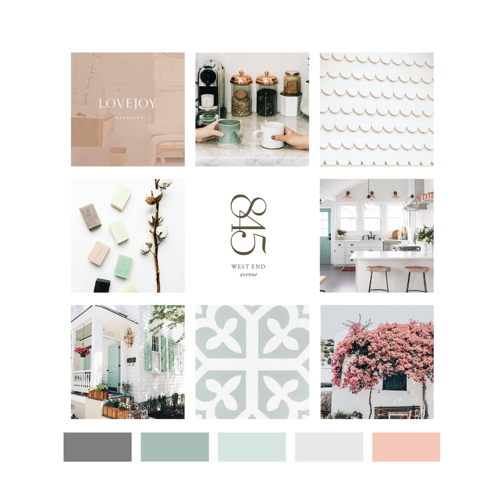 Urban Cottage Arkansas Realtor Brand Mood Board by Kindly by Kelsea