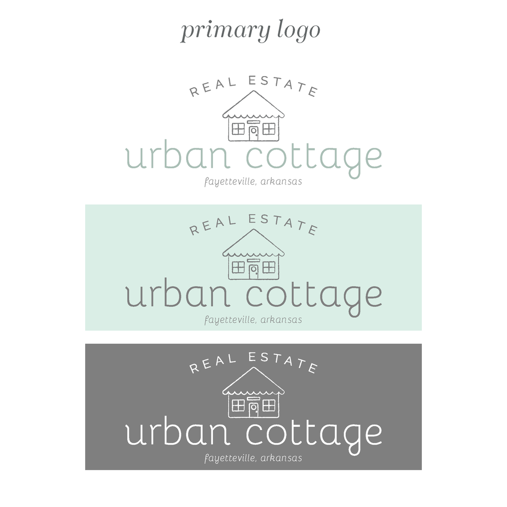 Urban Cottage Arkansas Realtor Logo and Branding by Kindly by Kelsea