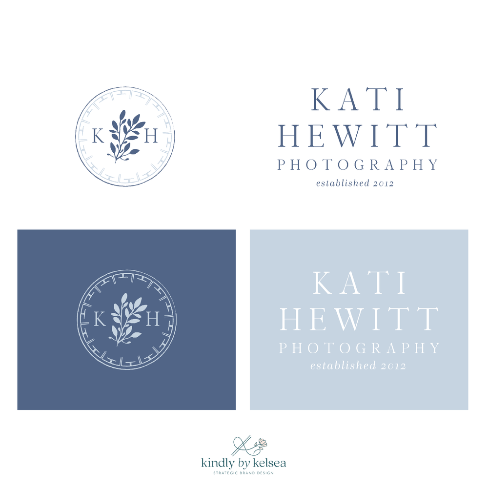 Kati Hewitt Photography Houston Wedding Photographer Logo and Brand Design by Kindly by Kelsea