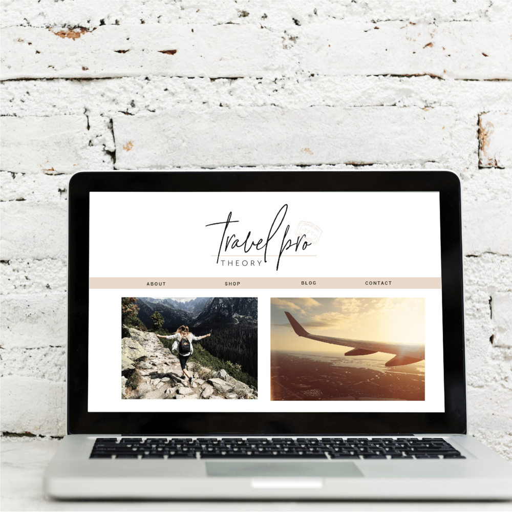 Travel Pro Theory Logo and Brand Design by Kindly by Kelsea