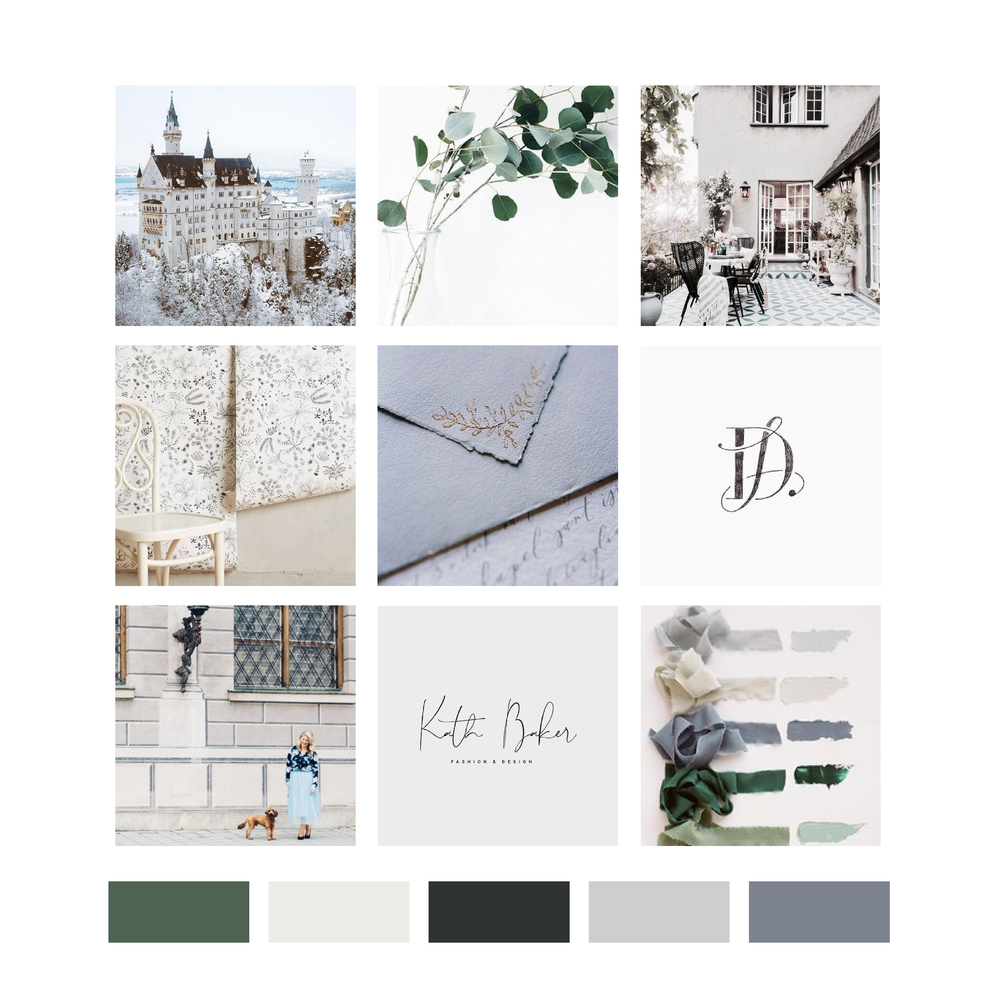 Madison Fichtl Fashion and Lifestyle Blogger Des Moines Iowa: Brand Mood Board and Color Palette by Kindly by Kelsea