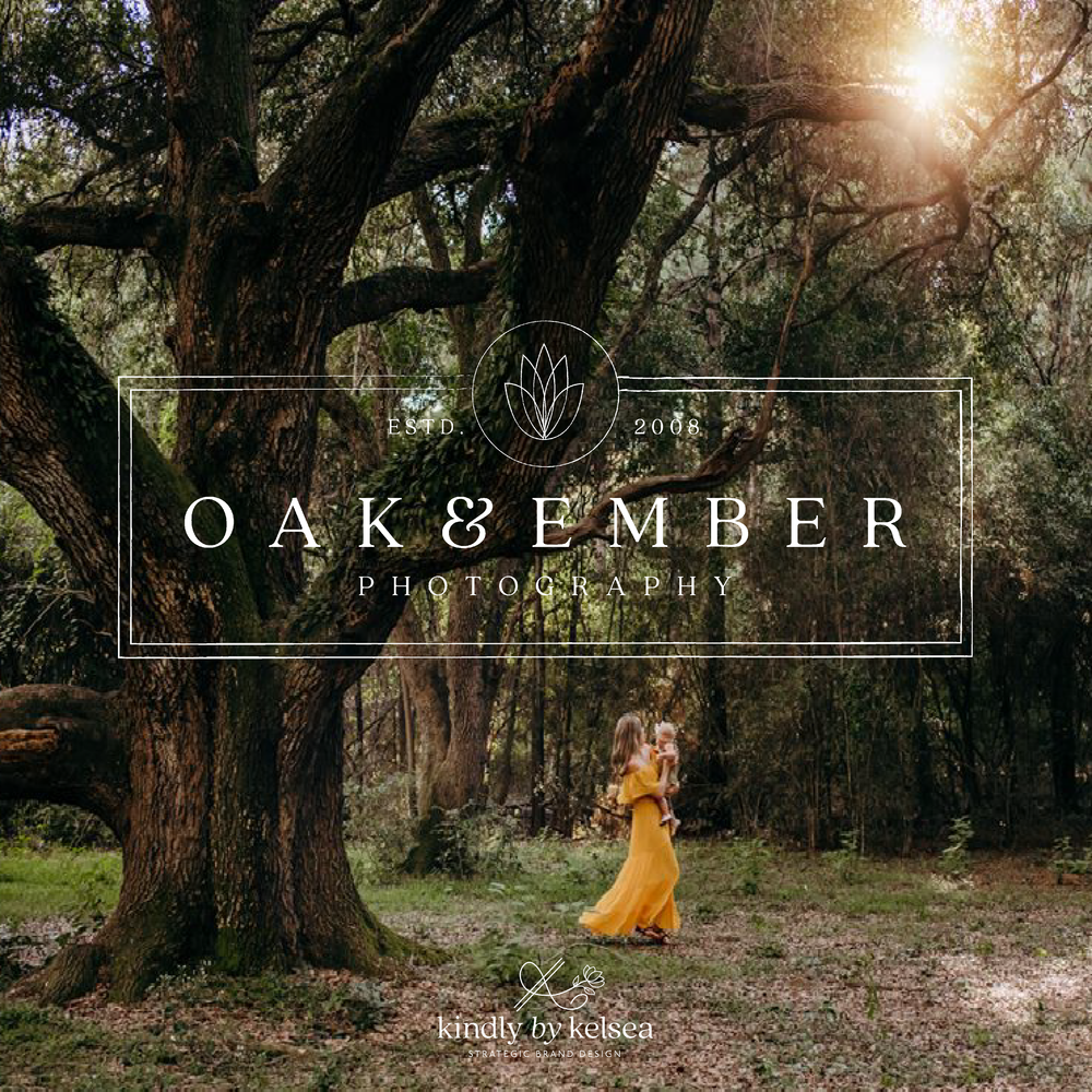 Oak and Ember Houston Cypress Family Lifestyle Newborn Photography Logo and Brand Design by Kindly by Kelsea