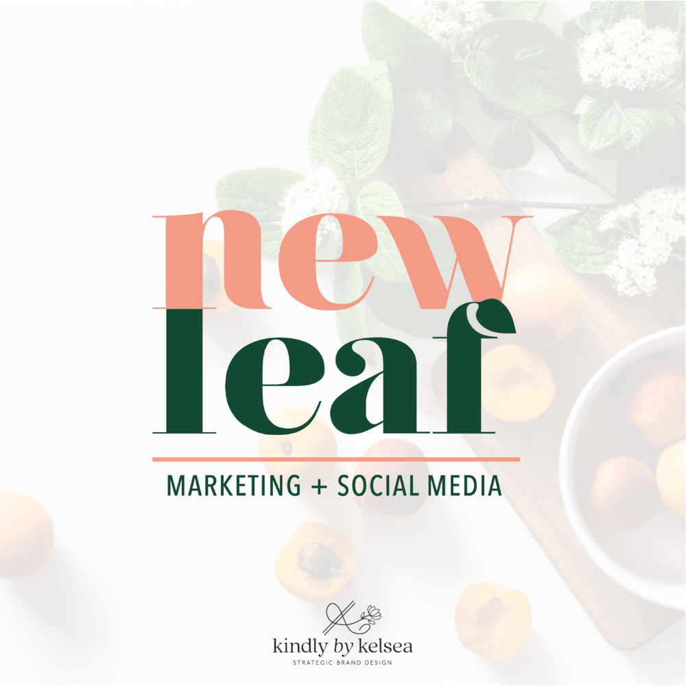 New Leaf Houston Social Media and Marketing Agency Brand and Logo Design by Kindly by Kelsea