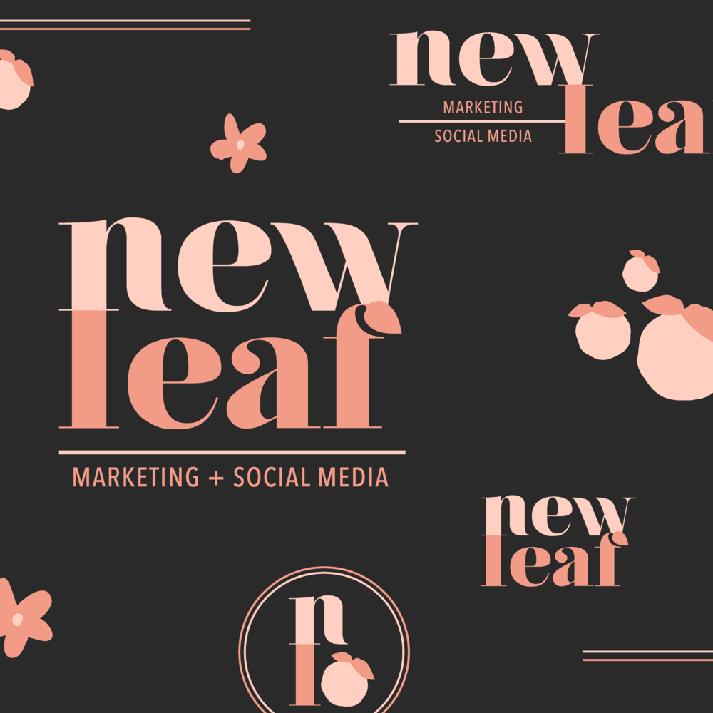 New Leaf Social Media and Marketing Houston Brand and Logo Design by Kindly by Kelsea