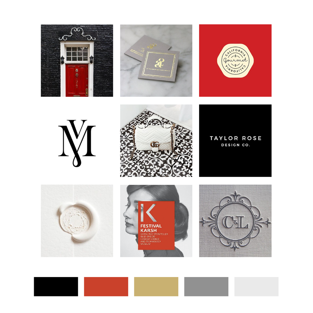 Ashley Guidry Houston Real Estate Agent Mood Board and Logo Design by Kindly by Kelsea