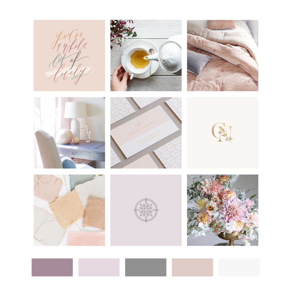 True North Counseling and Development Lexington Kentucky Clinic Color Palette and Mood Board by Kindly by Kelsea