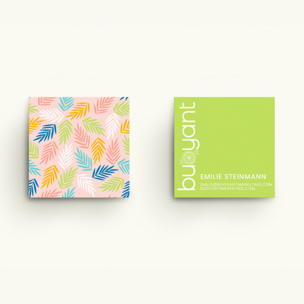 Buoyant Marketing Inbound Marketing Agency Florida Brand and Business Card Design by Kindly by Kelsea