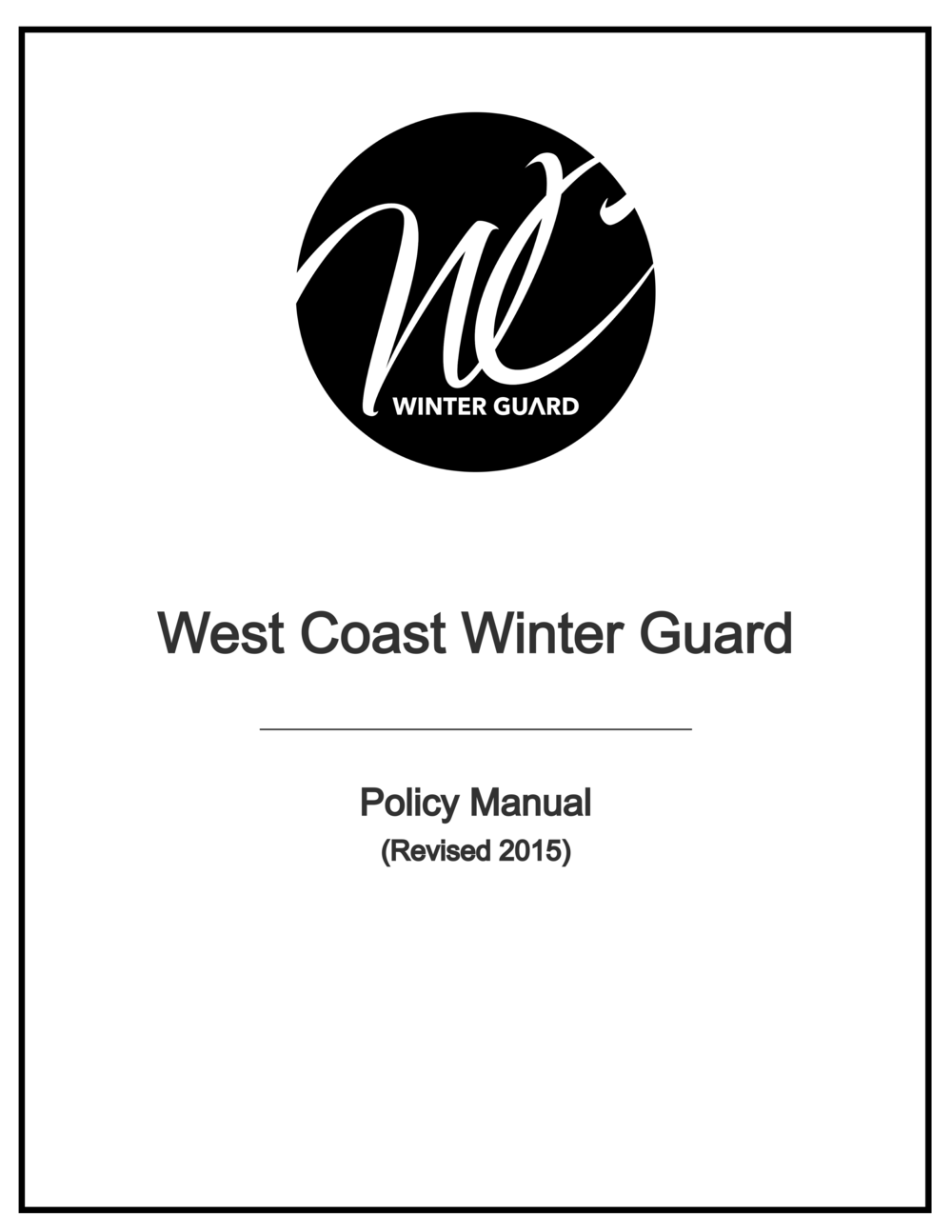 WCWG Policy Manual   -