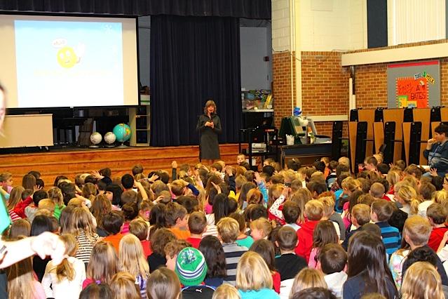 Carrie's school visits Bates Elementary Dexter 2012.jpg
