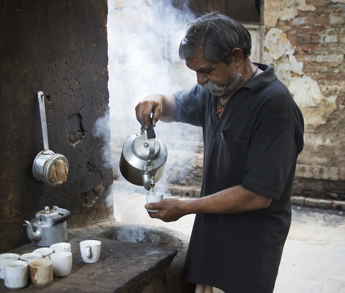 Shankar, Age 47 Donee  - Tea stall vendor in India who lives month to month and owns a simple smartphone.
