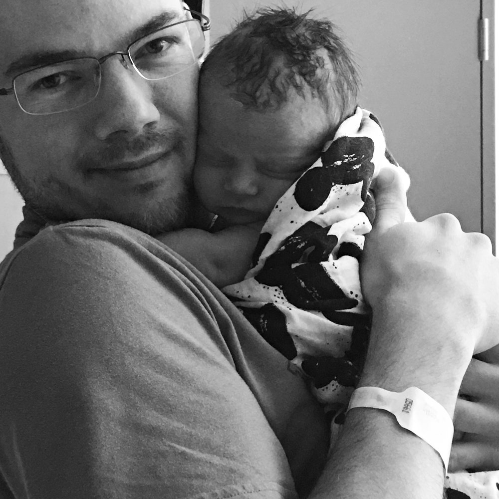Dad - noun. a person who loves their babies unconditionally. Period.