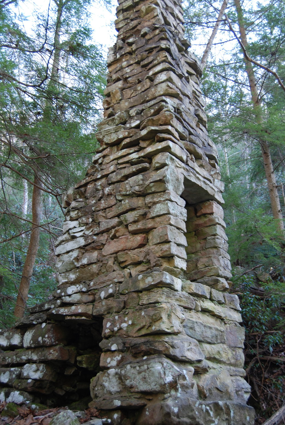 Harvey LaFollette's summer home chimney